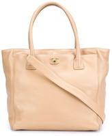 Chanel Beige Calfkin Executive Cerf Tote Bag