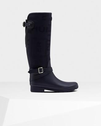 Hunter Women's Refined Slim Fit Adjustable Jacquard Tall Wellington Boots