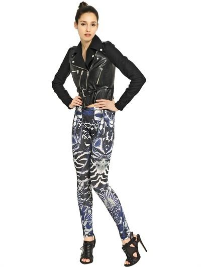 McQ Kaleidoscope Print Lycra Jersey Leggings