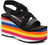 Rocket Dog Women's Bayer Wedge Sandal -Black/Multicolor
