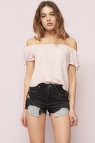 Garage Off-Shoulder Bow Sleeve Top