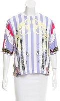 Versace Printed Short Sleeve Top