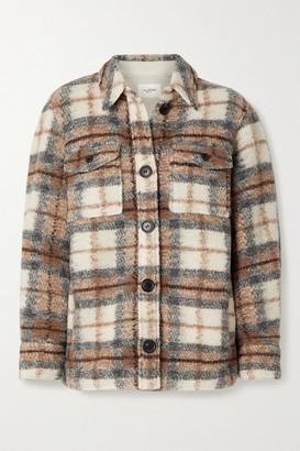 Etoile Isabel Marant Gastoni Checked Wool-blend Jacket - Gray