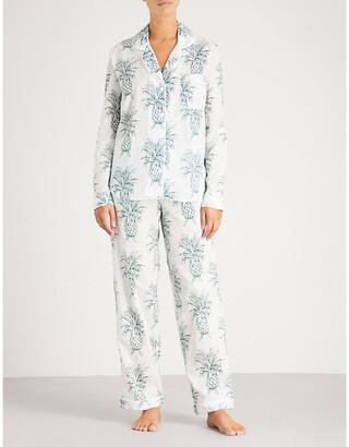 Desmond & Dempsey Howie cotton-voile pyjama set