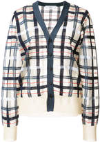 Toga checkered knit cardigan