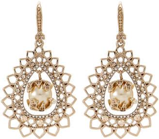 Marchesa Gold-Tone Pear-Shaped Earrings