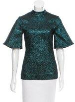 Ellery Metallic-Accented Short Sleeve Top