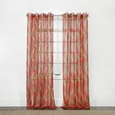 """Style Master Stylemaster Home Products Stylemaster TANGO printed Sheer Grommet Panel, 53"""" X 84"""", Chili"""