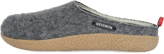 Giesswein Slipper Vorbach Grey 41 - Felt Slippers Changeable Footbed Warm Unisex-House Shoe Mules for Men & Women Comfortable Slippers Made of Wool with Fixed Sole Non-Slip Robust incl. Tongue