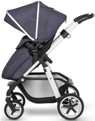 Silver Cross Pioneer Pushchair & Accessory Bundle - (Pushchair, Carry Cot, Parasol, Changing Bag and Footmuff)