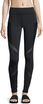 Michi Suprastelle Mesh-Panel Performance Leggings, Black
