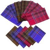 ibaexports Lot 12 Pcs Hanky Cotton Hankie Pocket Square Handkerchief Men Accessories