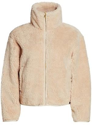 Varley Highwood Faux-Sherpa Cropped Jacket
