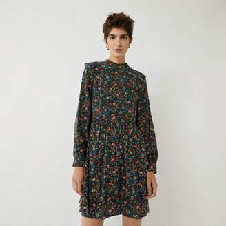 Warehouse DITSY PAISLEY FRILL MINI DRESS