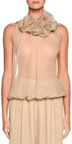 Giorgio Armani Ruffled-Collar Sleeveless Blouse