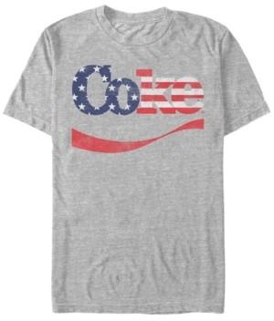 Coca Cola Coca-Cola Men's Star-Spangled Coke Swoosh Short Sleeve T-Shirt