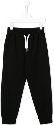 No.21 Kids contrast drawstring trousers