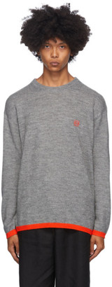 Loewe Grey and Red Wool Anagram Sweater