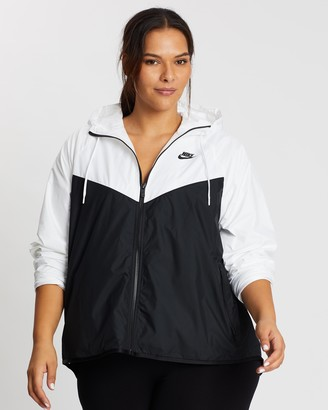 Nike Women's Black Jackets - Plus Sportswear Windrunner Jacket - Size XL at The Iconic