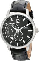 Nautica Men's Nct 15 N15047G Leather Quartz Watch