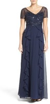 Adrianna Papell Women's Ruffle Gown