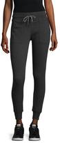 Betsey Johnson Contrast Trim Cotton Skinny Sweatpants