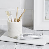 The White Company Marble toothbrush holder
