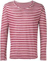 Massimo Alba striped T-shirt - men - Linen/Flax - XL