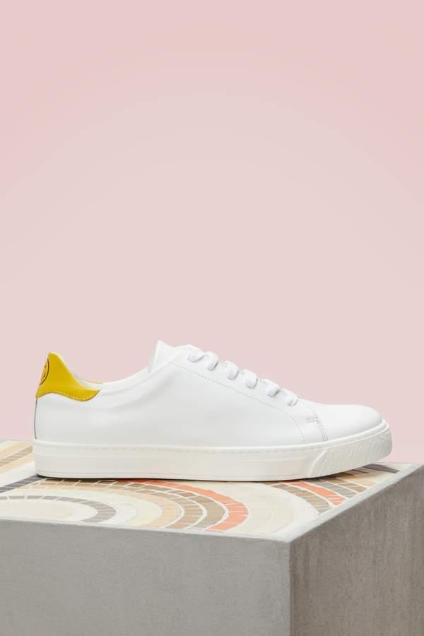Anya Hindmarch Printed Wink Tennis Shoes