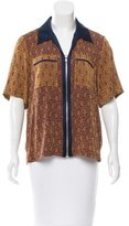 3.1 Phillip Lim Silk-Trimmed Jacquard Top w/ Tags