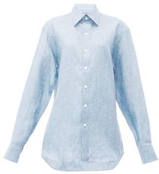 Emma Willis Linen Shirt - Womens - Light Blue