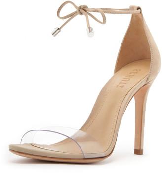 Schutz Josseana Leather Ankle-Tie Sandals