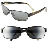 Maui Jim Men's 'Black Coral - Polarizedplus2' 65Mm Sunglasses - Matte Black