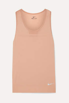 Nike Infinite Dri-fit Jersey And Mesh Tank - Antique rose