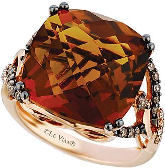 LeVian Le Vian 14K Rose Gold 13.85 Ct. Tw. Diamond & Quartz Ring