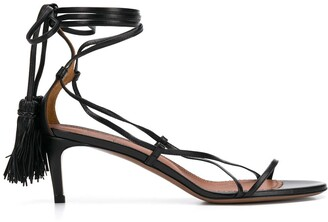L'Autre Chose Strappy Hanging Tassel Sandals