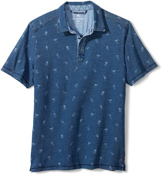 Tommy Bahama Indigo 'On The House' Short Sleeve Polo Shirt
