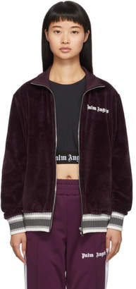 Palm Angels Purple Chenille Track Jacket