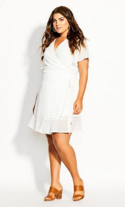 City Chic Angelic Dress - ivory
