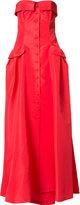 Carolina Herrera faille bustier gown - women - Silk - 8