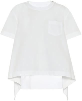 Sacai Cotton-blend poplin blouse