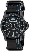 Tommy Bahama Men's 10018317 Paradise Pilot Multifunction Analog Display Japanese Quartz Black Watch