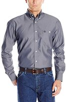 Wrangler Men's George Strait One Pocket Long Sleeve Solid Woven Shirt