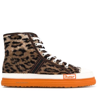 Martine Rose Leopard Print Basketball Boots