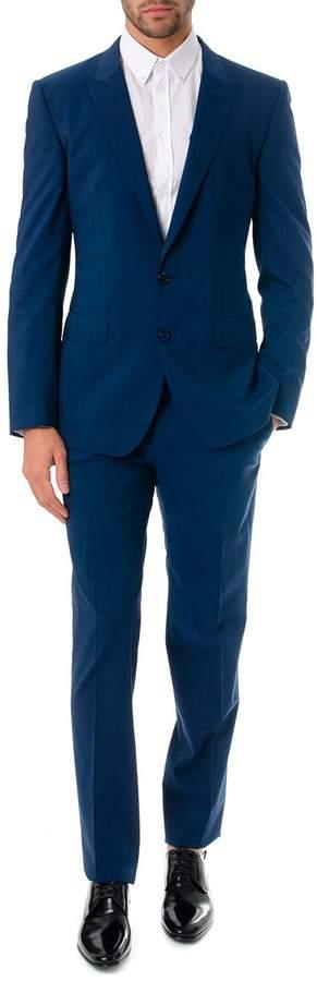 Dolce & Gabbana Melange Classic Suit In Wool