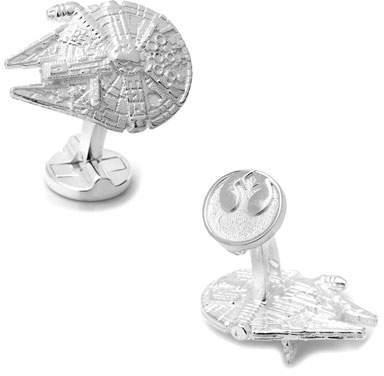 Cufflinks Inc. Star Wars Millennium Falcon Sterling Silver Cuff Links