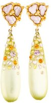 Alexis Bittar Lucite & Crystal Earrings