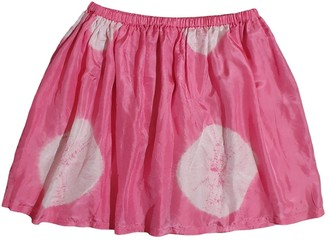 BRIGITTE Bardot Pink Silk Skirt for Women