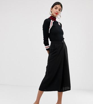 Vero Moda Tall high waisted culottes in black