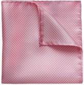 Eton Pink Polka Dots Silk Pocket Square